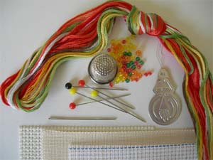 Embroidery threads and equipment image