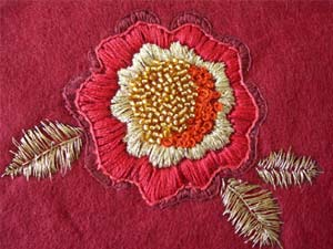 Embroidered flower image